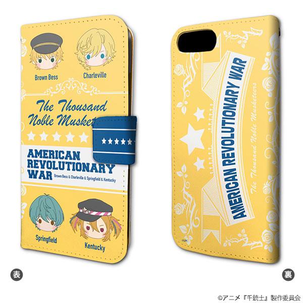 手帳型スマホケース(iPhone6/6s/7/8兼用)「TVアニメ 千銃士」01/アメリカ独立戦争(KAOKAO)[A3]《在庫切れ》