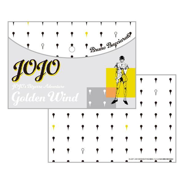 ジョジョの奇妙な冒険 黄金の風 フラットポーチ B:ブローノ・ブチャラティ(再販)[ディ・モールト ベネ]《在庫切れ》