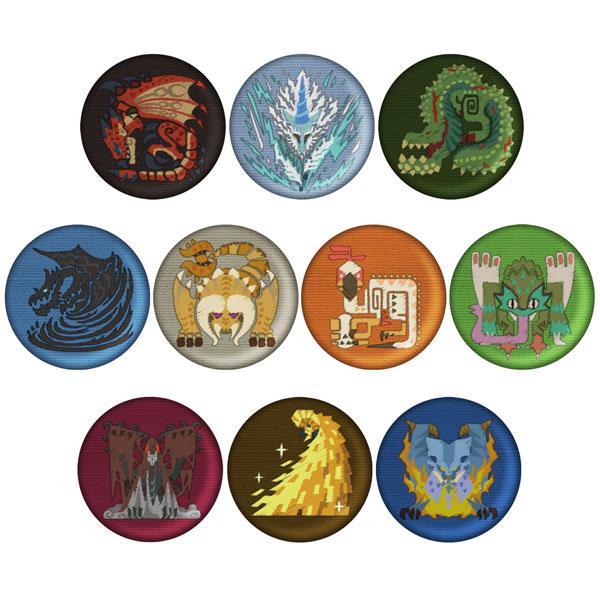 モンスターハンター:ワールド モンスターアイコン刺繍缶バッジコレクション Vol.2 10個入りBOX[カプコン]《発売済・在庫品》