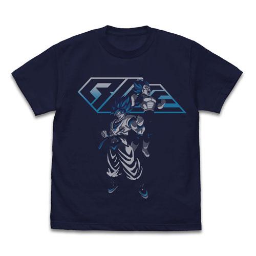 ドラゴンボール超 ブロリー 超サイヤ人ブルー 悟空&ベジータTシャツ/NAVY-M(再販)[コスパ]《12月予約》