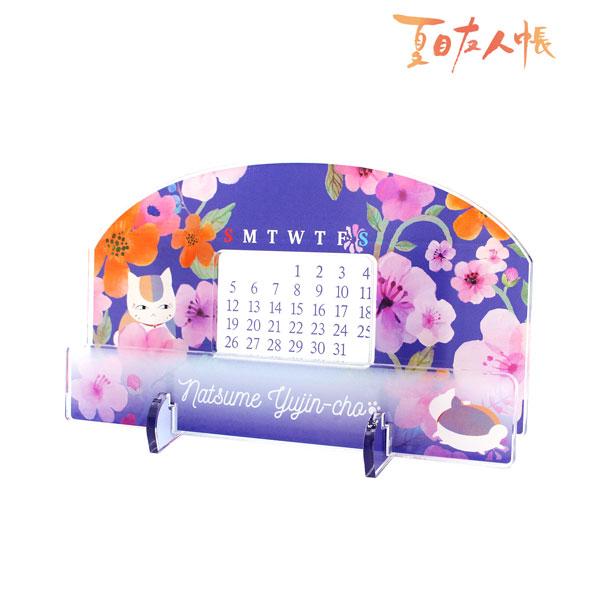 夏目友人帳 卓上アクリル万年カレンダー(ニャンコ先生)(再販)[アルマビアンカ]《05月予約》
