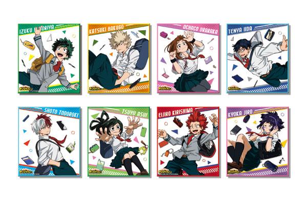 僕のヒーローアカデミア カラフル箔ミニ色紙コレクション 8個入りBOX(再販)[POMMOP]《在庫切れ》