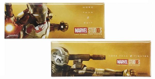 マーベルスタジオ 10th アニバーサリー/ スクエア缶バッジセット E アイアンマン&ウォーマシン[イン・ロック]《在庫切れ》