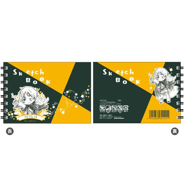ヘタリア World★Stars ミニ図案スケッチブック イギリス[ヒサゴ]《発売済・在庫品》
