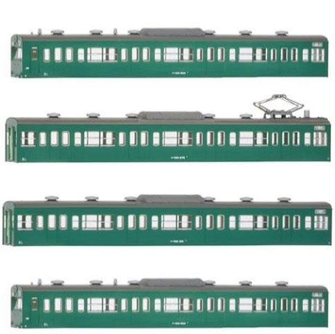 18017 国鉄(JR)103系〈低運・非ユニット窓・冷改車・エメラルドグリーン〉 基本4両編成ボディキットA[グリーンマックス]《取り寄せ※暫定》
