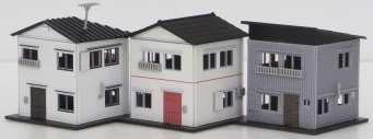 2587 着色済み 住宅セットA(3棟入り)(再販)[グリーンマックス]《07月予約》