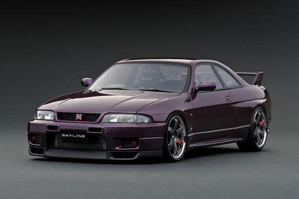 1/18 日産 スカイライン GT-R (R33) V-spec Midnight Purple[イグニッションモデル]【送料無料】《在庫切れ》