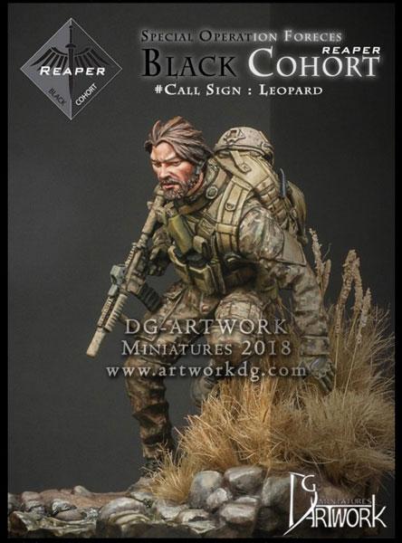 1/24 特殊部隊 ブラックコホート #レパード(ベース付き) レジンキット[DGアートワーク社]《在庫切れ》