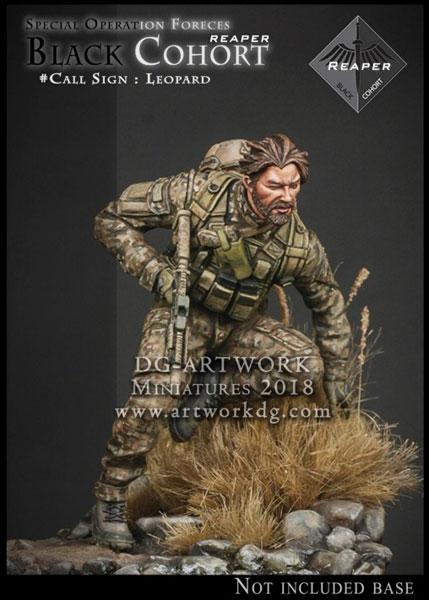 1/24 特殊部隊 ブラックコホート #レパード(ベース無し) レジンキット[DGアートワーク社]《在庫切れ》