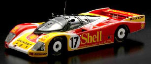 "1/43 ポルシェ 962C No.17 ""Shell"" 2nd Le Mans 1988 D. Bell - K. Ludwig - H-J. Stuck[スパーク]《在庫切れ》"