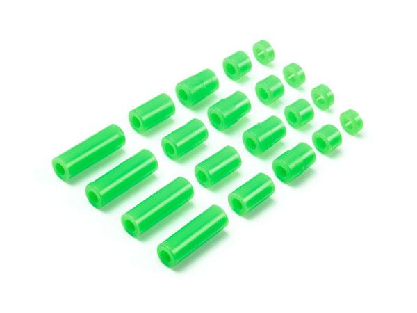 ミニ四駆特別企画 軽量プラスペーサーセット (12/6.7/6/3/1.5mm) (蛍光グリーン)(再販)[タミヤ]《発売済・在庫品》