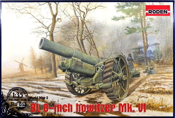 1/35 英BL8インチ野砲Mk.VI・WW-1 プラモデル[ローデン]《在庫切れ》