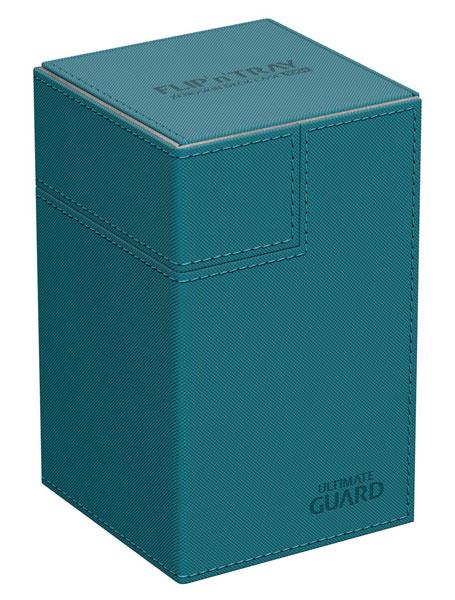 フリッピントレイ デッキケース 100 ゼノスキン ペトロール[アルティメットガード]《発売済・在庫品》