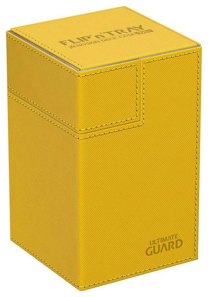 フリッピントレイ デッキケース 100 ゼノスキン アンバー[アルティメットガード]《発売済・在庫品》