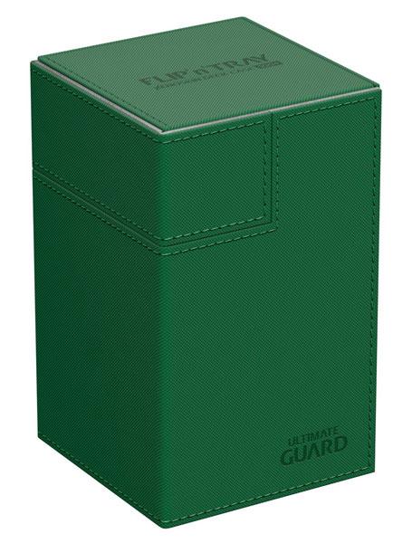 フリッピントレイ デッキケース 100 ゼノスキン グリーン[アルティメットガード]《発売済・在庫品》