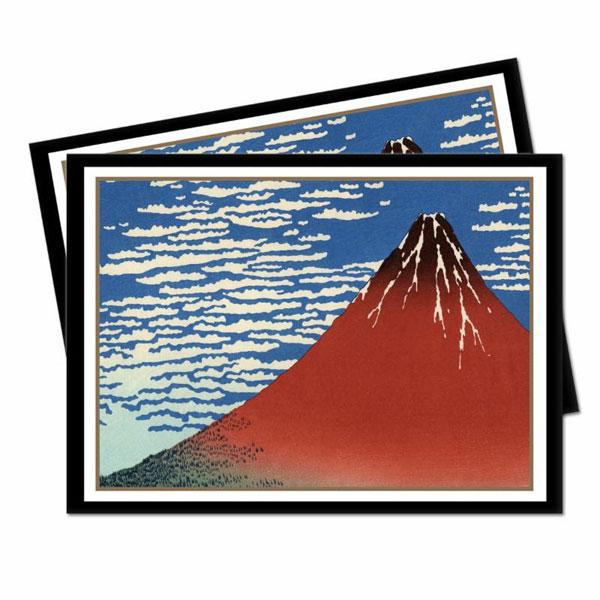 通常カード用デッキプロテクター 名画シリーズ 赤富士(凱風快晴) スタンダードサイズ パック[Ultra・PRO]《発売済・在庫品》