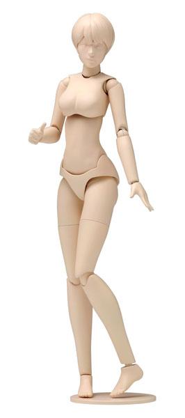 1/12スケール ムーバブルボディ 女性型 [Bバージョン] プラモデル[WAVE]《在庫切れ》