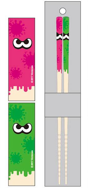 マイ箸コレクション スプラトゥーン2 04 ピンク&グリーン(再販)[バンダイ]《在庫切れ》