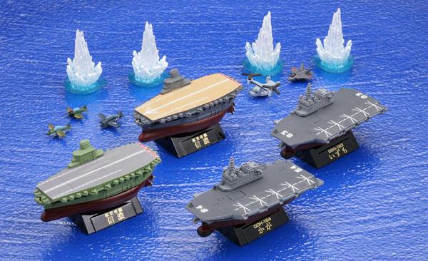 ワールドシップデフォルメ第3弾 miniQ ミニチュアキューブ 幻の空母・信濃と航空機搭載護衛艦編 8個入りBOX[海洋堂]《02月予約》