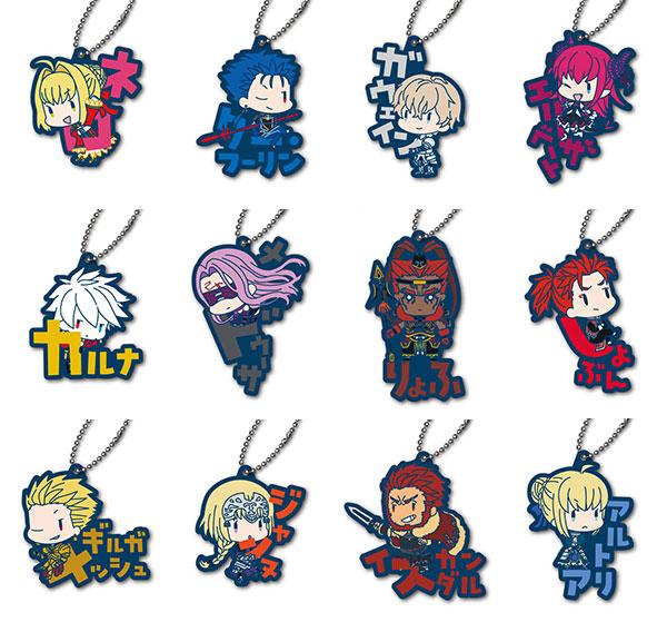 Fate/EXTELLA LINK おなまえぴたんコ ラバーマスコット B 12個入りBOX[ジーベック]《在庫切れ》