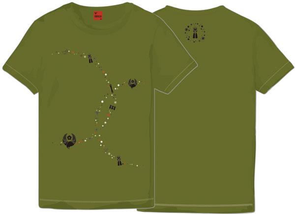 刀剣乱舞-ONLINE- Tシャツ 鶯丸 シティグリーン L(レディース)[マーズ・シックスティーン]《在庫切れ》