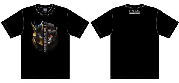 トランスフォーマー×龍馬 Tシャツ VSヘッド サイズL[スパイダーウェブ]【送料無料】《取り寄せ※暫定》