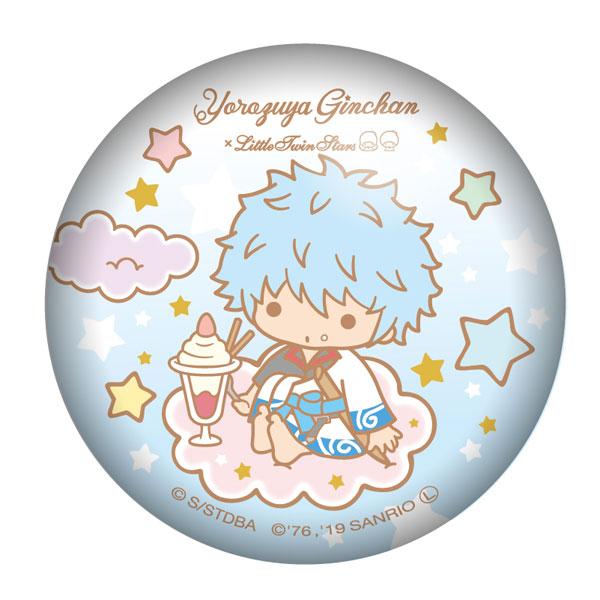 銀魂×Sanrio characters ぷにぷに缶バッジ 坂田銀時[ツインクル]《発売済・在庫品》
