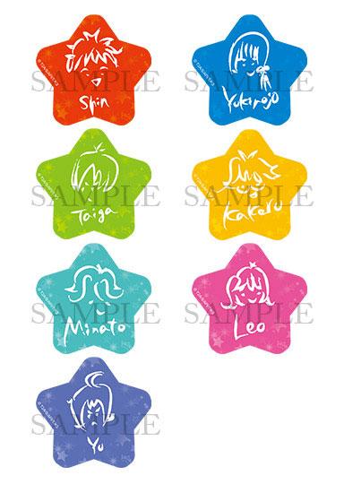 KING OF PRISM -Shiny Seven Stars- 星型缶バッジコレクション 7個入りBOX[一二三書房]《発売済・在庫品》