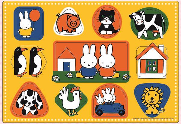 ジグソーパズル ピクチュアパズル ミッフィー いろいろなかたち 11ピース (26-922)[アポロ社]《在庫切れ》