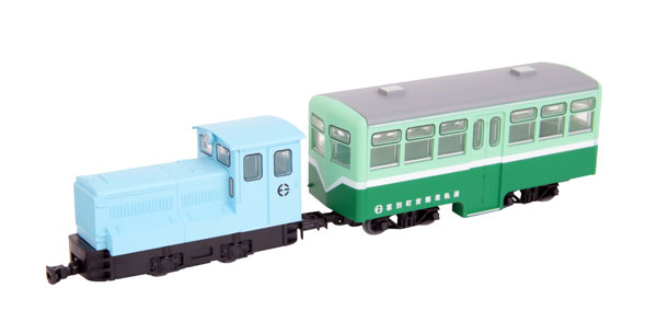 鉄道コレクション ナローゲージ80 富別簡易軌道 ディーゼル機関車+牽引客車セット[トミーテック]《07月予約》