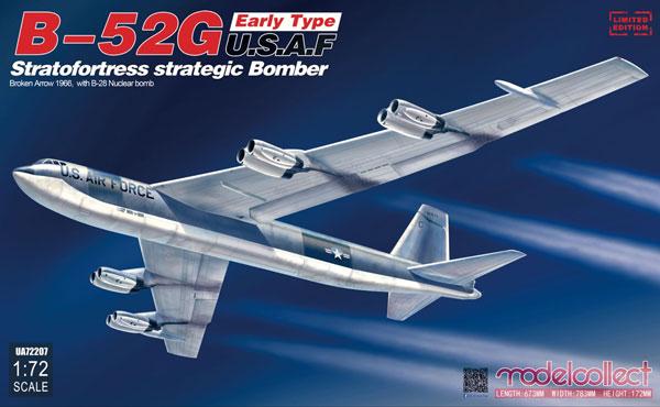 1/72 B-52G ストラトフォートレス 前期型 w/B28核爆弾 「ブロークン・アロー1966年」(パロマレス米軍機墜落事故)[モデルコレクト]《在庫切れ》