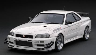 1/43 Nissan Skyline GT-R Mine's (R34) White[イグニッションモデル]《在庫切れ》