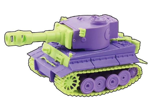 カラフルキュートタンク タイガーI (ドイツ) プラモデル[新時模型]《取り寄せ※暫定》