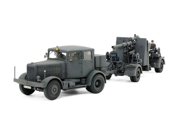 1/48 タミヤ・イタレリシリーズ ドイツ重牽引車 SS-100・88mm砲FLAK37セット プラモデル[タミヤ]《在庫切れ》