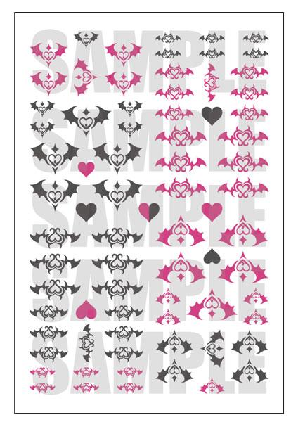 オリジナルタトゥーデカール (1/12~1/6フィギュア向け)[ヴェルテクス]《発売済・在庫品》