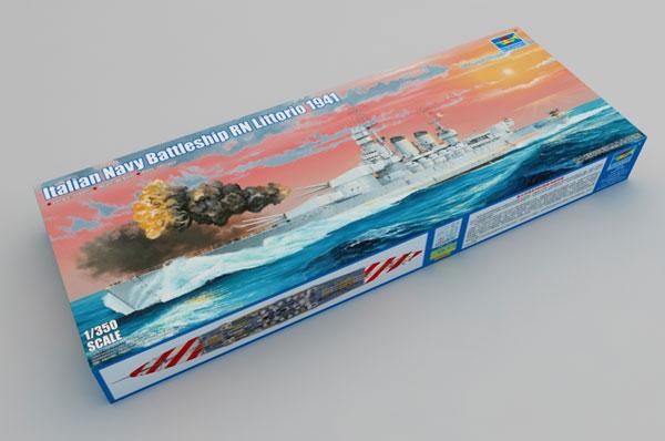 1/350 イタリア海軍 戦艦 リットーリオ 1941 プラモデル[トランペッターモデル]《04月予約※暫定》