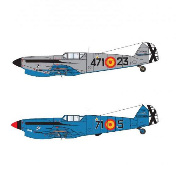 1/32 イスパノHA-1112 M1L スペイン空軍デカール[アティチュードアビエーション]《在庫切れ》