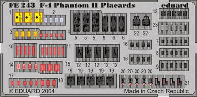 1/48 F-4 ファントムII プラカード(再販)[エデュアルド]《在庫切れ》