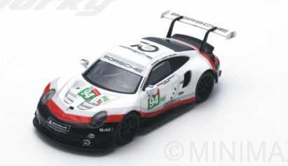 1/64 Porsche 911 RSR No.94 Porsche GT Team 24H Le Mans 2018 R.Dumas - T.Bernhard - S.Muller[スパーク]《発売済・在庫品》