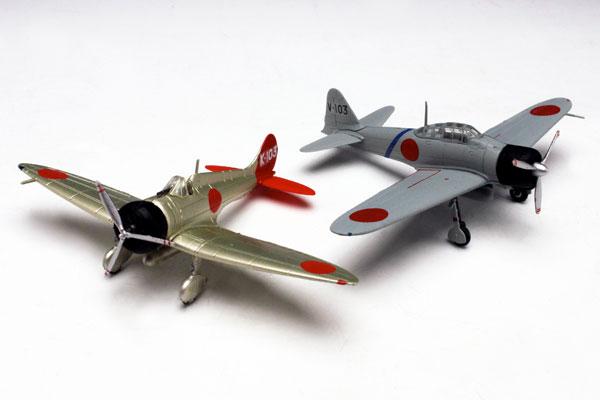 1/144 日本海軍 九六式艦上戦闘機& 零式艦上戦闘機二一型(2機セット)プラモデル[プラッツ]《在庫切れ》