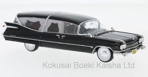 1/43 キャデラック Superior 霊柩車 1959 ブラック[ネオ]《在庫切れ》