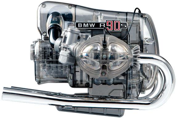 1/2 BMW R90S ボクサー フラット・ツイン エンジン 空冷OHV2気筒 透明モデルキット プラモデル[FRANZIS]【同梱不可】【送料無料】《在庫切れ》