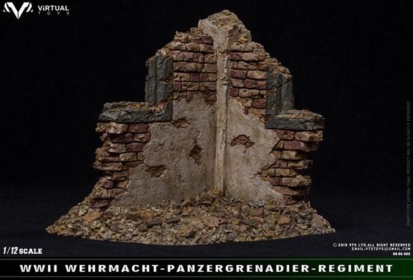 WWII SS 1/12 戦場廃墟シーンディスプレイ[Virtual Toys]《11月仮予約》