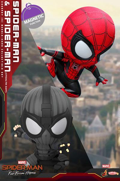 コスベイビー スパイダーマン:ファー・フロム・ホーム サイズS スパイダーマン 壁はりつき版&ステルススーツ版[ホットトイズ]《在庫切れ》