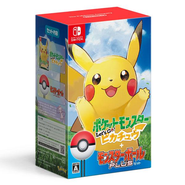 【特典】Nintendo Switch ポケットモンスター Let's Go! ピカチュウ モンスターボール Plusセット[ポケモン]【送料無料】《発売済・在庫品》