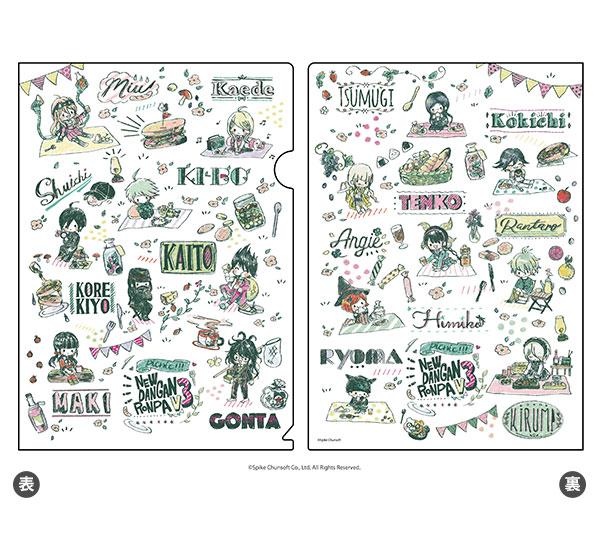 クリアファイル「ニューダンガンロンパV3 みんなのコロシアイ新学期」05/集合デザイン ピクニックver.(グラフアート)[A3]《05月予約》