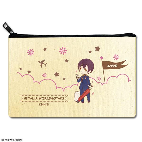 ヘタリア World★Stars フラットポーチ デザイン03(日本)[ライセンスエージェント]《発売済・在庫品》