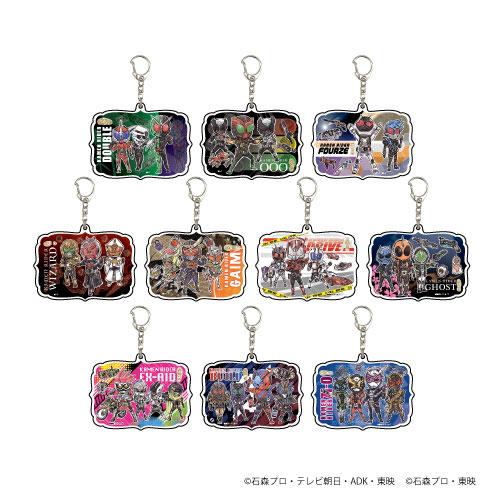アクリルキーホルダー「平成仮面ライダー20作品記念」02/グラフアート 10個入りBOX[A3]《在庫切れ》