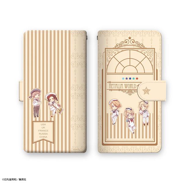ヘタリア World★Stars ブックスタイルスマホケース Lサイズ デザイン02[ライセンスエージェント]《在庫切れ》