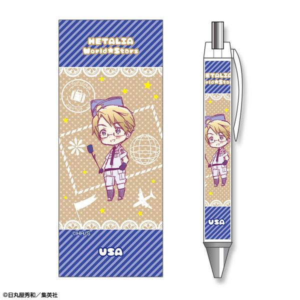 ヘタリア World★Stars ボールペン デザイン04(アメリカ)[ライセンスエージェント]《発売済・在庫品》